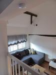 Blick von oben ins Wohnzimmer